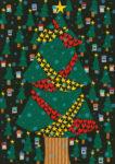 クリスマスツリー / 鉛筆,折紙,フォトショップCS4