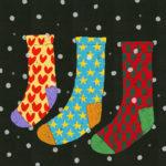 冬の靴下 / 鉛筆,折紙,フォトショップCS4