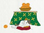 猫はコタツで丸くなる / 鉛筆,折紙,フォトショップCS4