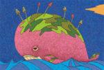 万年クジラ / アクリル絵具,キャンバス紙