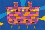 方舟-the skyship- / アクリル絵具,キャンバス紙