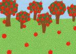 リンゴ畑 / 鉛筆,折紙,フォトショップCS4