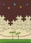 記憶のカケラ / アクリル絵具,キャンバスボード