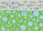 雨模様 / 鉛筆,折紙,フォトショップCS4
