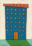 星屑アパート / アクリル絵具,キャンバスボード