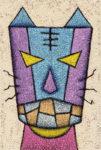 仮面猫 / アクリル絵具,キャンバス紙