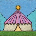 太陽サーカス / アクリル絵具,キャンバス紙