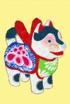 張子の犬 / 鉛筆,折紙,フォトショップCS4
