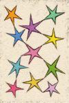 星のダンス / アクリル絵具,キャンバス紙