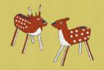 張子の鹿 / 鉛筆,折紙,フォトショップCS4