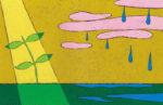 雨のち晴れ / アクリル絵具,キャンバス紙