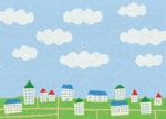 ある日の空 / 鉛筆,折紙,フォトショップCS4